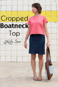 Cropped Boatneck sewn with Shoreline Boatneck pattern by Blank Slate Patterns - Melly Sews