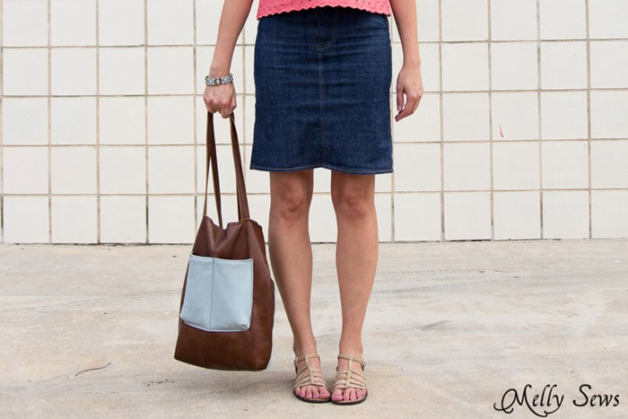 DIY Denim skirt and tote - Melly Sews