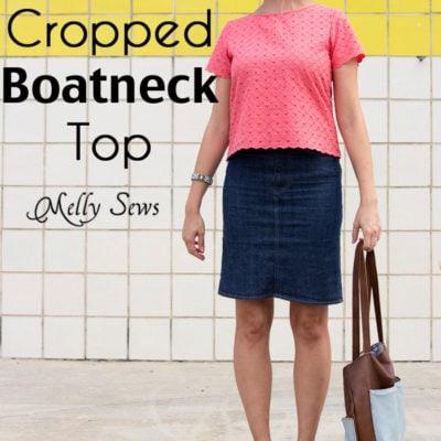 Cropped Shoreline Boatneck Top