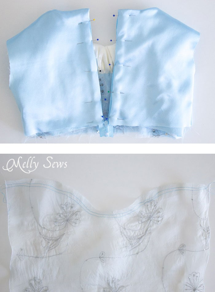 Step 8 - Sew a Princess Costume with a free pattern and tutorial from Melly Sews - could work for Princess Bride, Elsa, and other characters