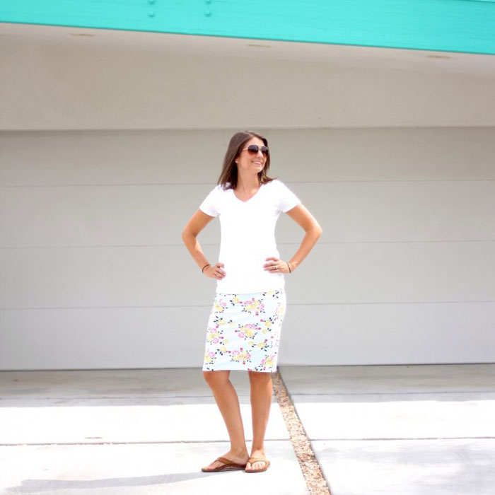 Pencil skirt by Made Everyday in Idle Wild Floral Multi