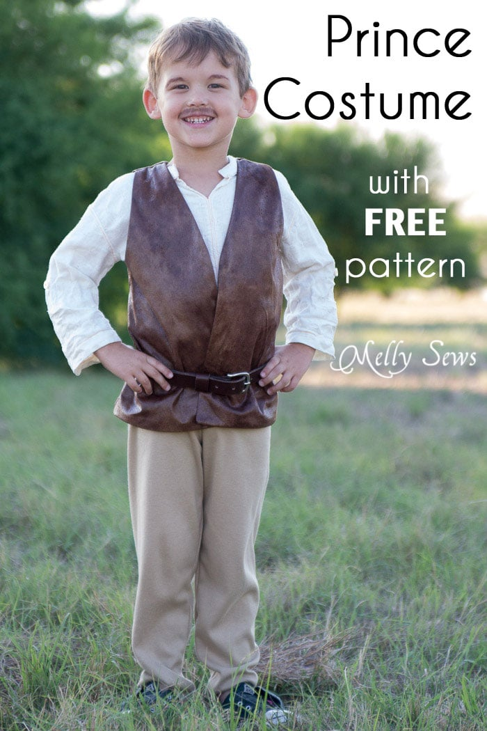 Make a prince costume with a free pattern - this could also be a pirate or even Inigo Montoya costume - Melly Sews