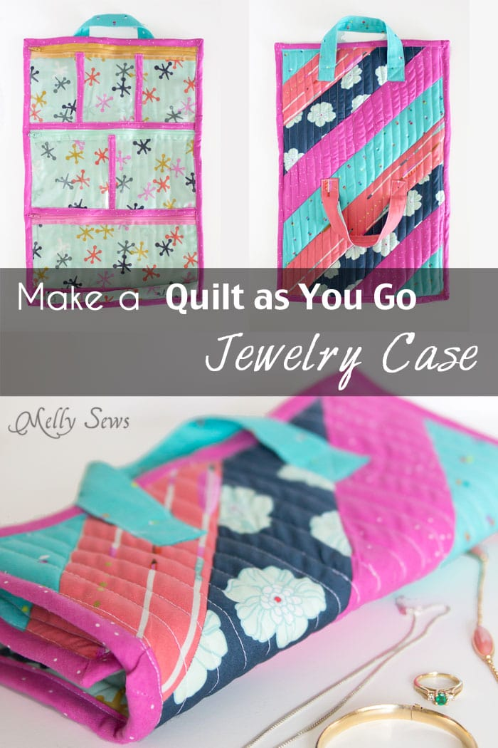 Make a Quilt as You Go Jewelry Case - Melly Sews
