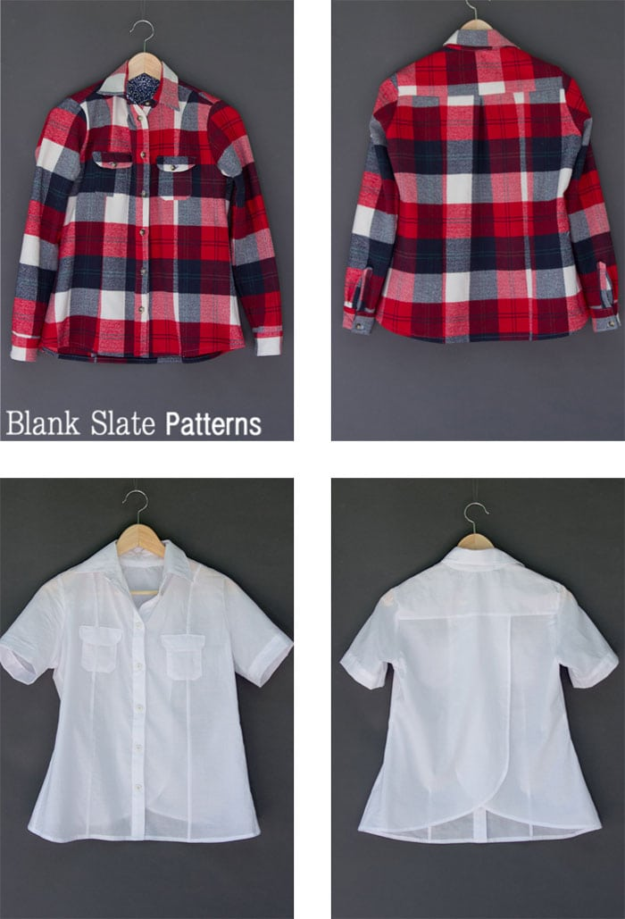 Great wardrobe staple! Novelista Shirt Sewing Pattern for women in sizes XXS-3X by Blank Slate Patterns