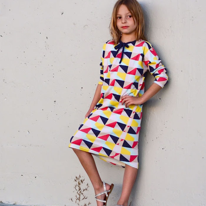 Metro Dress by Aesthetic Nest in Idle Wild Multi Triangles