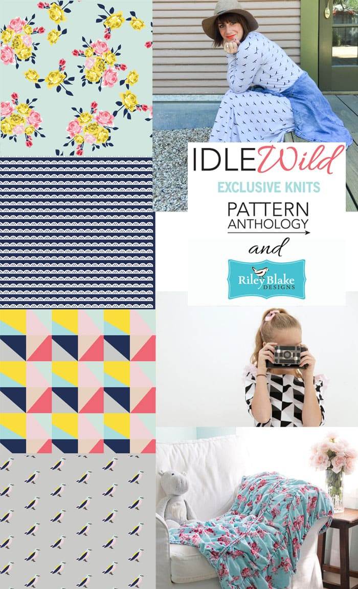 Idle Wild Fabrics by Pattern Anthology for Riley Blake - love these knits!