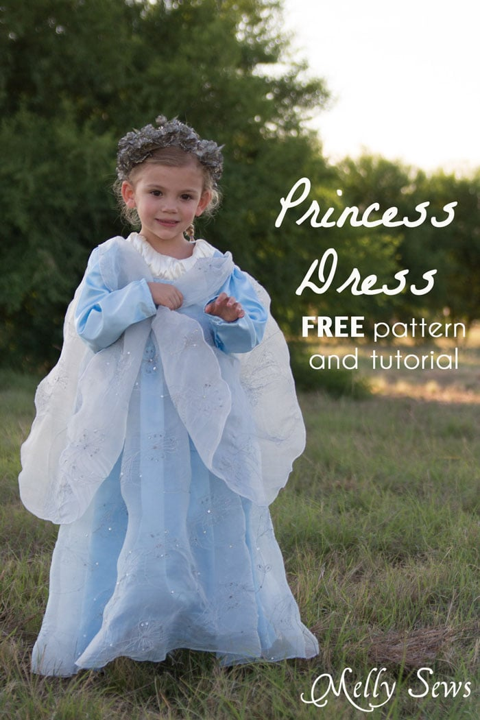 Sew a Princess Costume with a free pattern and tutorial from Melly Sews - could work for Princess Bride, Elsa, and other characters