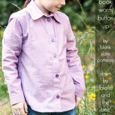 Bookworm Button Up with Falafel and the Bee – Blank Slate Sewing Team
