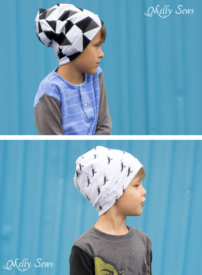 ee6e8b51bfa Sew kids knit hats - Sew a Beanie Hat - Make a slouchy hat in any