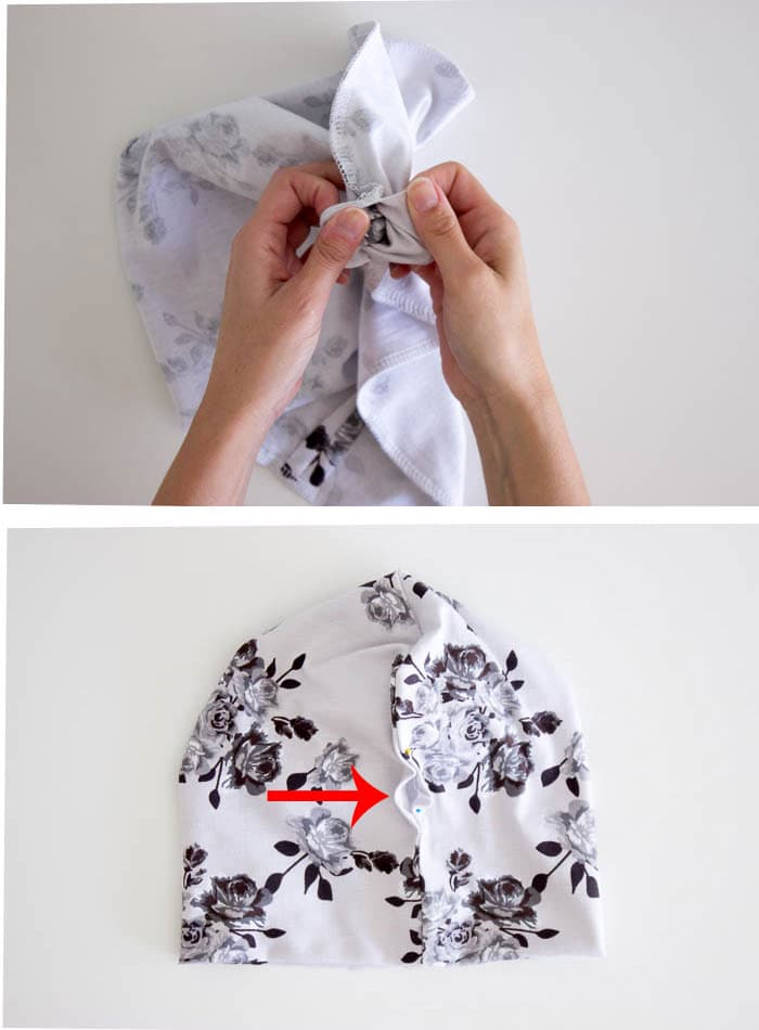 Step - Sew a Beanie Hat - Make a slouchy hat in any size with this EASY tutorial - Melly Sews