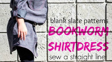 Bookworm Button Up DRESS with Sew a Straight Line – Blank Slate Patterns Sewing Team