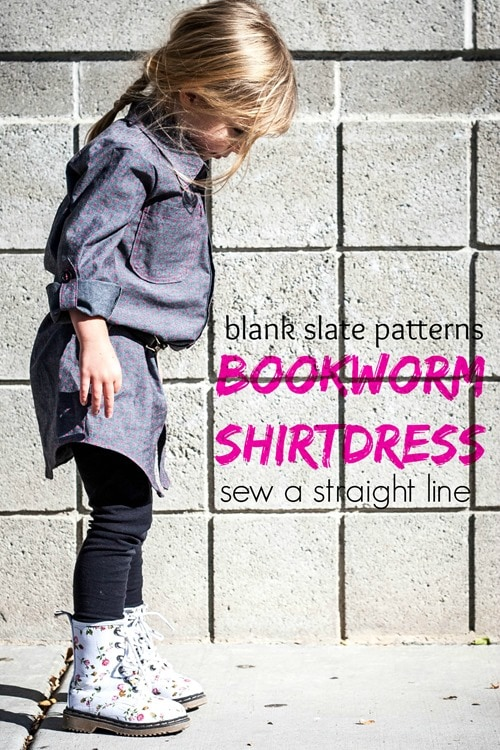 Bookworm Button Up DRESS with Sew a Straight Line - Blank Slate ...