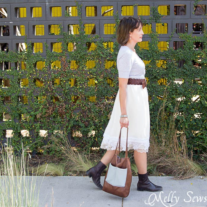 Love this Granny chic style! - Vintage Lace Skirt - sewn from Just for You book - Melly Sews