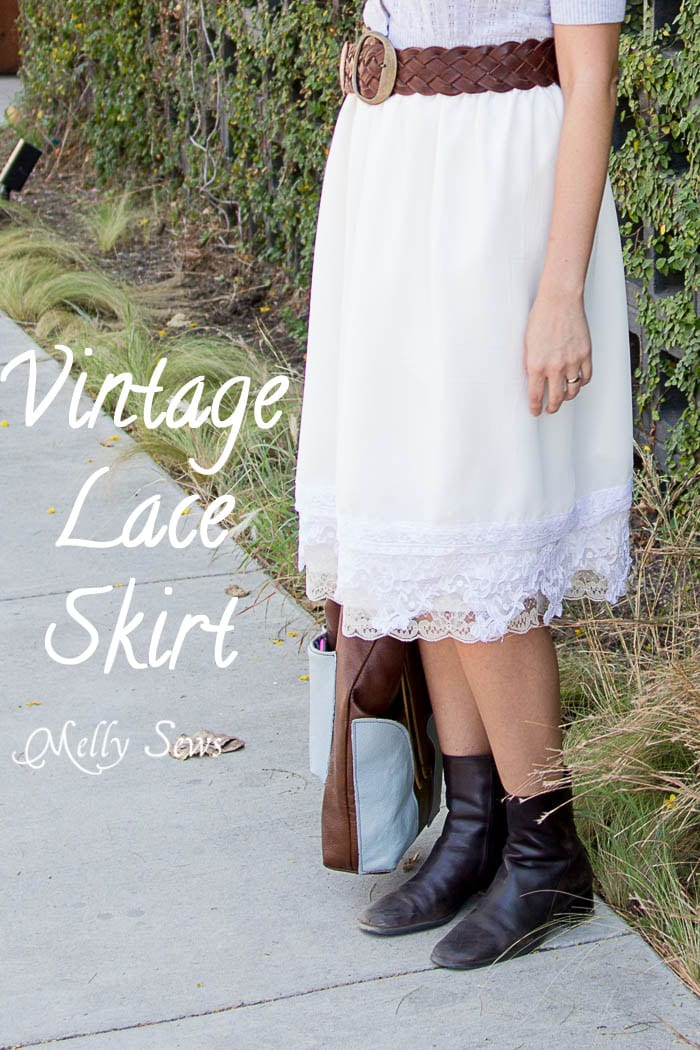 Vintage Lace Skirt - sewn from Just for You book - Melly Sews