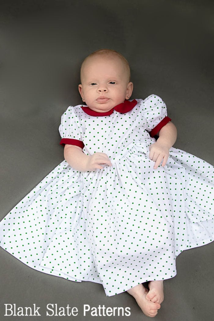 OMG - Baby Christmas dress pattern! So cute from Blank Slate Patterns.