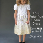 Faux Peter Pan Collar Dress – with FREE pattern