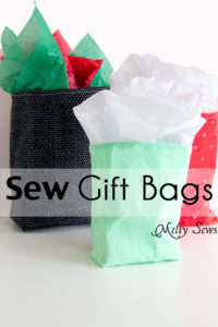 How to sew Fabric Gift Bags - Make Reusable Gift Bags with this tutorial from Melly Sews