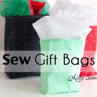 How to Sew DIY Gift Bags