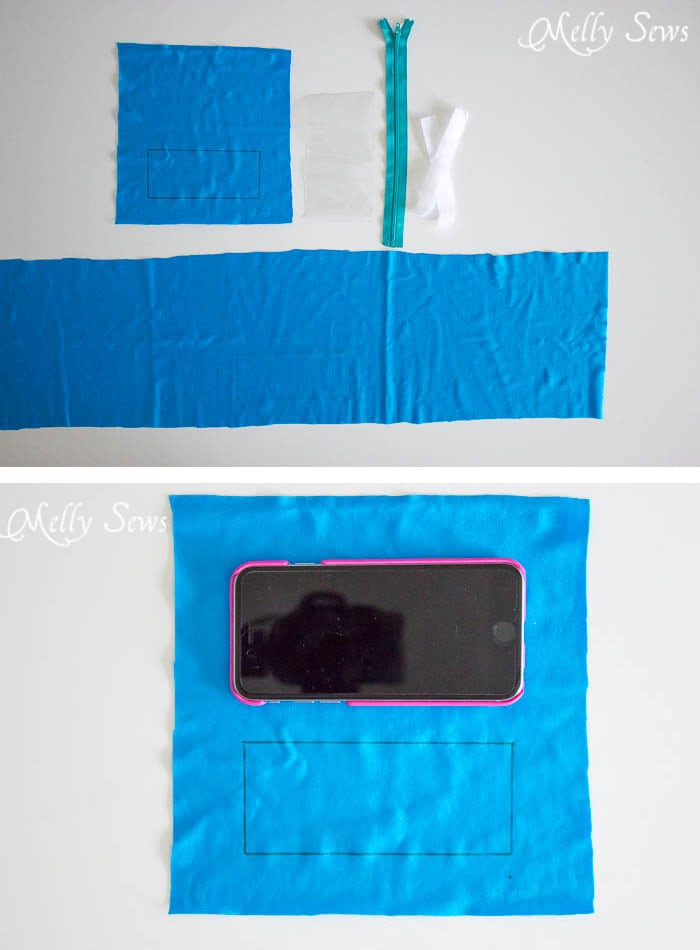Step 1 - How to Sew a Running Belt with access for your touchscreen - running belt for smartphone - iPhone running belt - Melly Sews