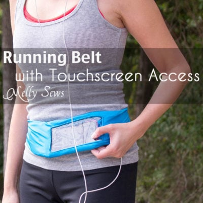 Running Belt with Touch Screen Access