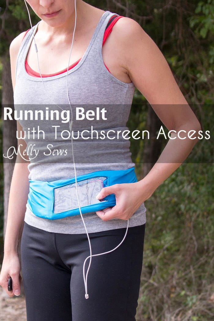 How to Sew a Running Belt with access for your touchscreen - running belt for smartphone - iPhone running belt - Melly Sews