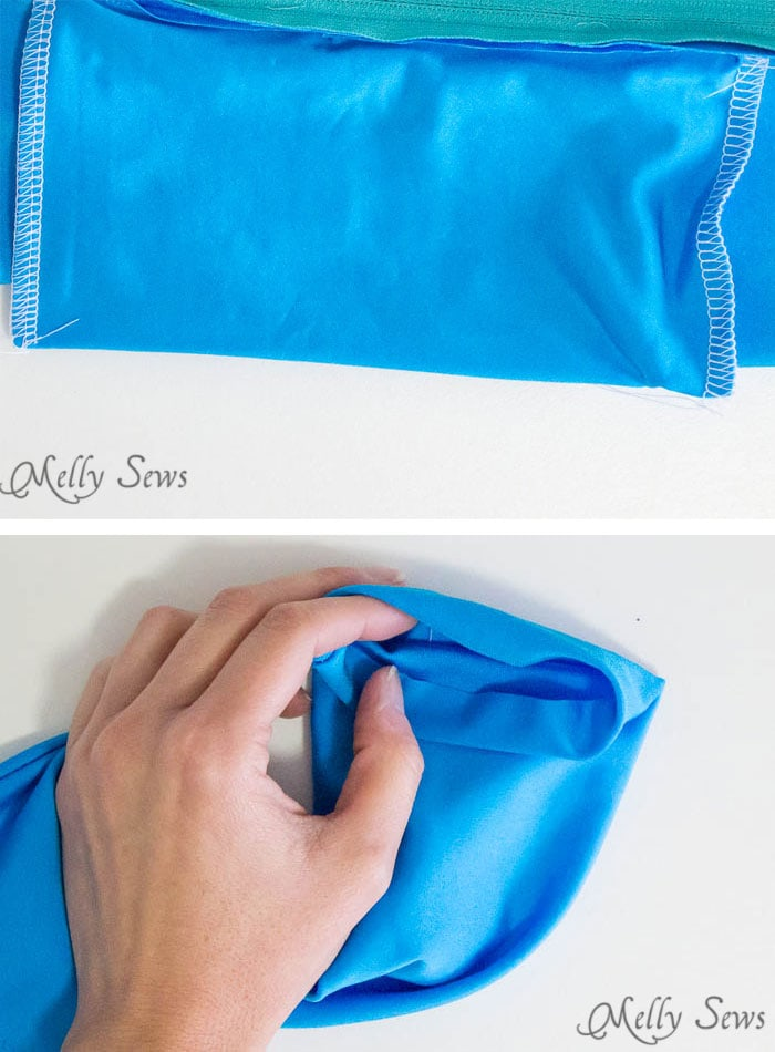 Step 6 - How to Sew a Running Belt with access for your touchscreen - running belt for smartphone - iPhone running belt - Melly Sews