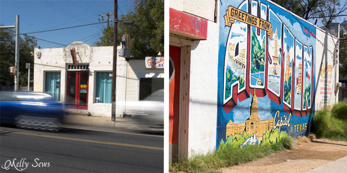 Welcome to Austin Mural - Roadhouse Relics, South First and Annie - Melly Sews