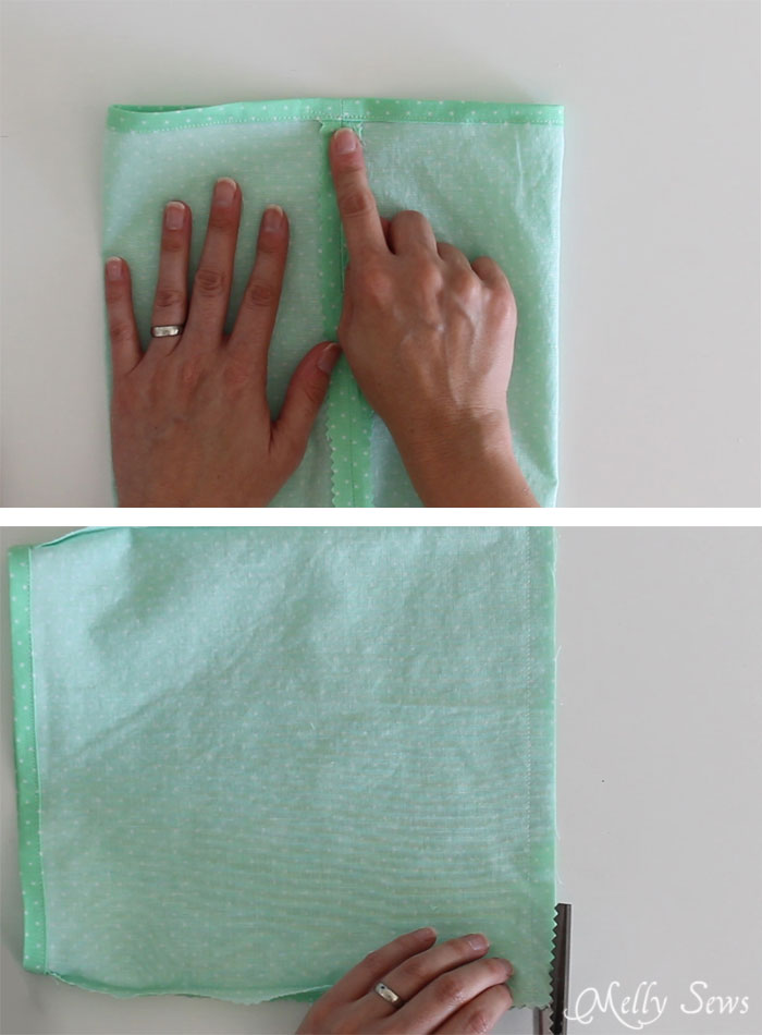 Step 2 - How to sew Fabric Gift Bags - Make Reusable Gift Bags with this tutorial from Melly Sews