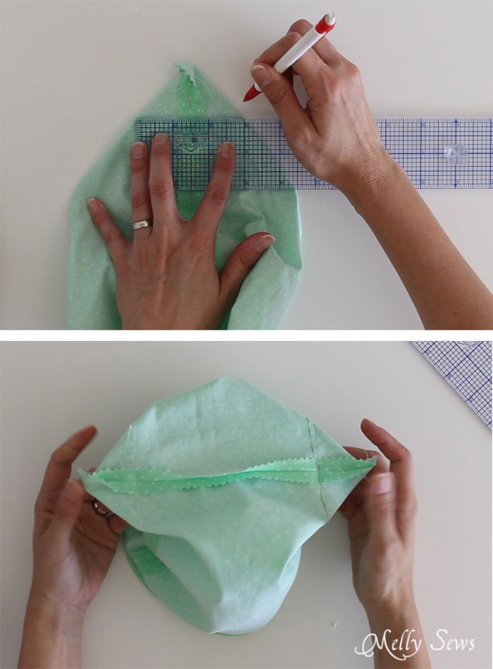 Step 3 - How to sew Fabric Gift Bags - Make Reusable Gift Bags with this tutorial from Melly Sews