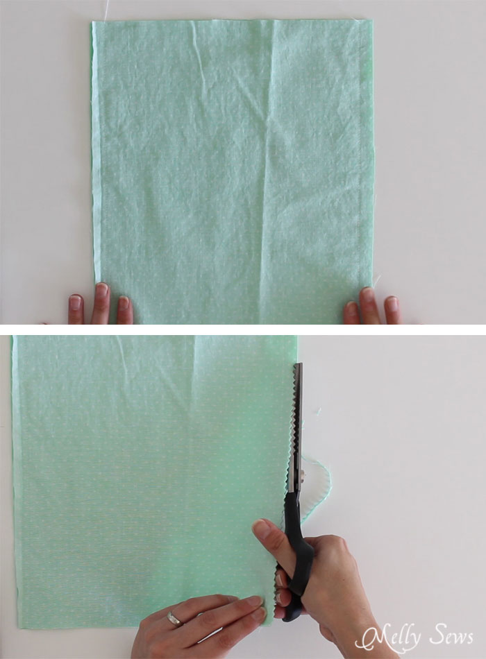 Step 1 - How to sew Fabric Gift Bags - Make Reusable Gift Bags with this tutorial from Melly Sews