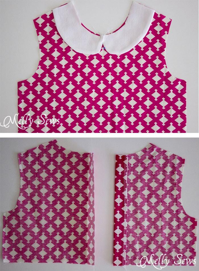 Faux peter pan collar dress with free pattern melly sews for Peter pan shirt pattern