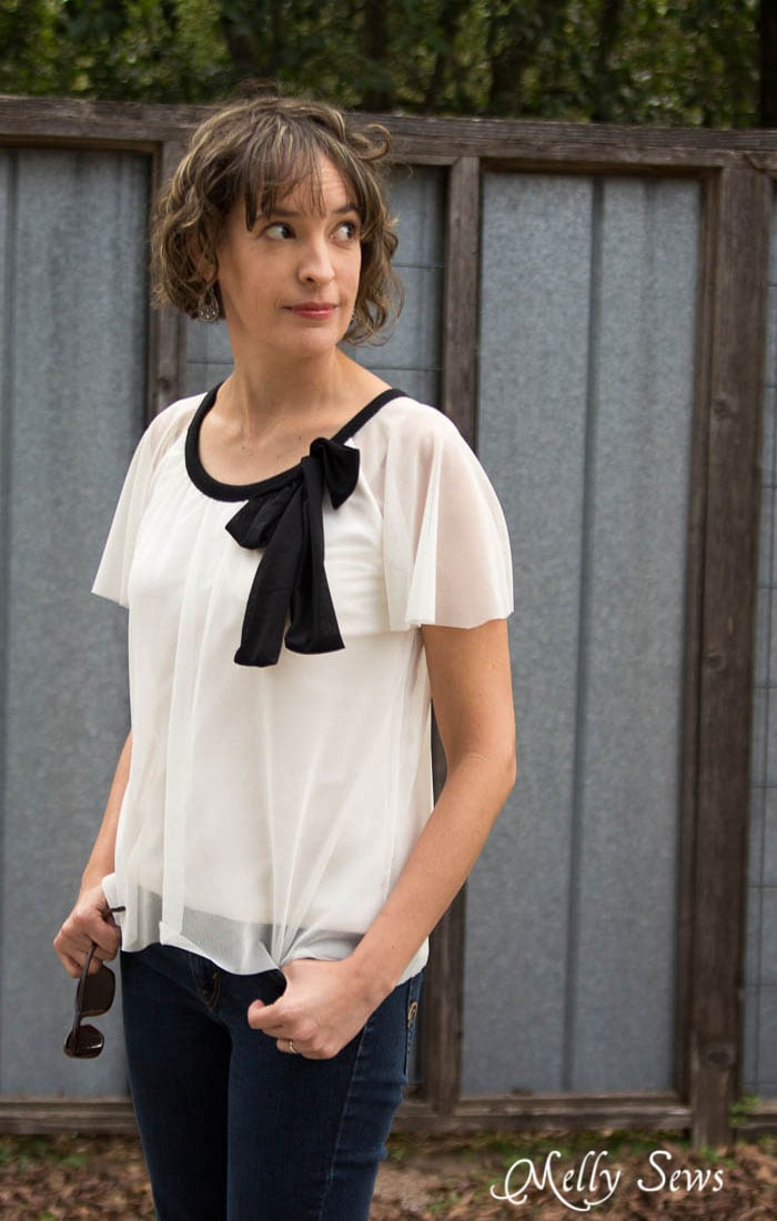 Wintersong Top - Pattern by Blank Slate Patterns, Sewn by Melly Sews