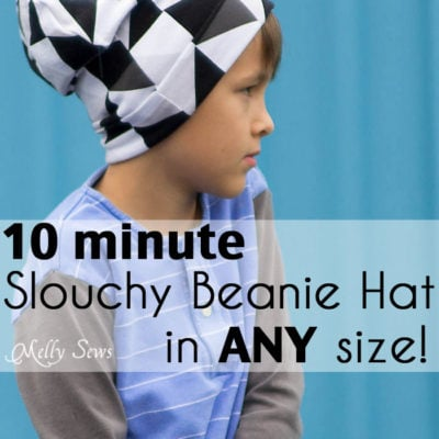 Sew a Beanie Hat – Slouchy Hat Tutorial