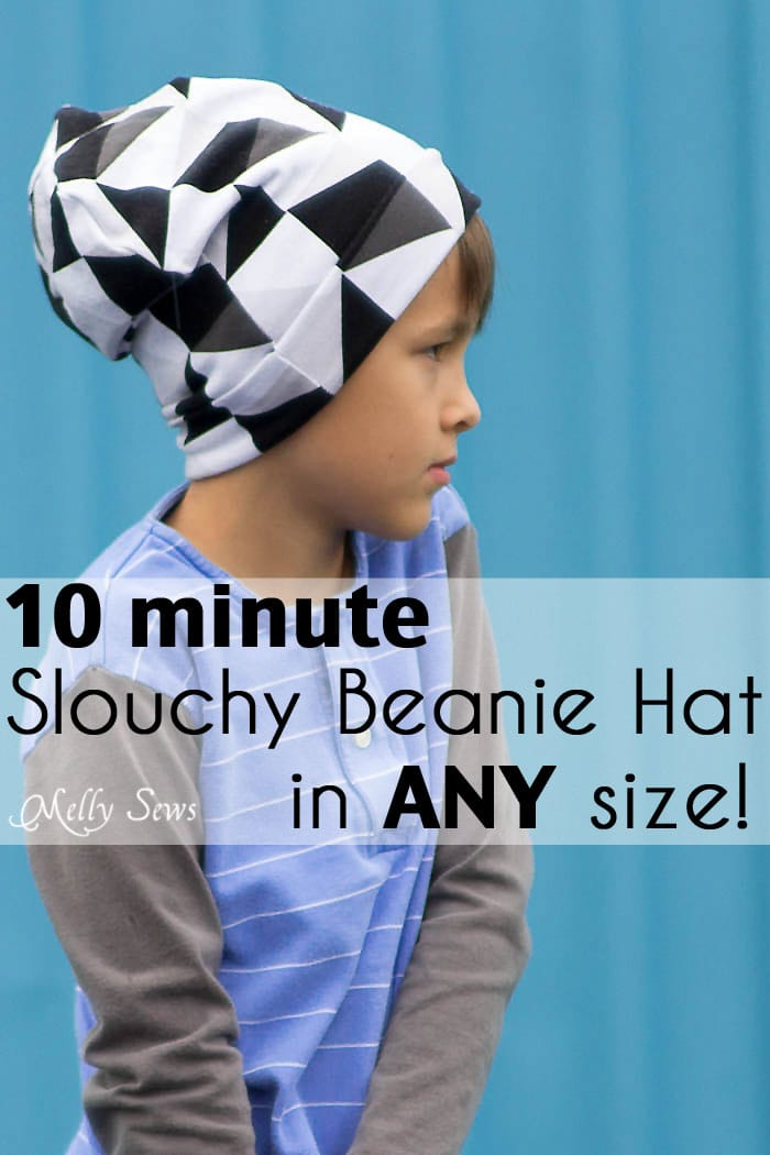 Sew a Beanie Hat - Make a slouchy hat in any size with this EASY tutorial 4a6ae1252fa