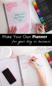 Get your blog or business on track for the year with a customized planner. Get the DIY and free printables here - Melly Sews