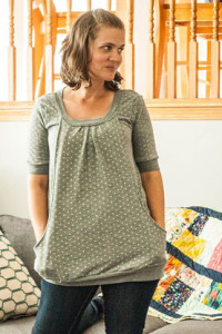 Pocket Full of Posies Dress turned tunic top by Sew a Straight Line