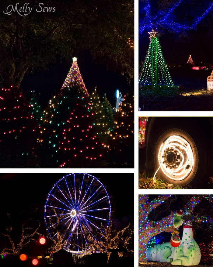 Scenes from the Trail of Lights -Austin Notebook - What to wear and see at the Zilker Trail of Lights - Melly Sews