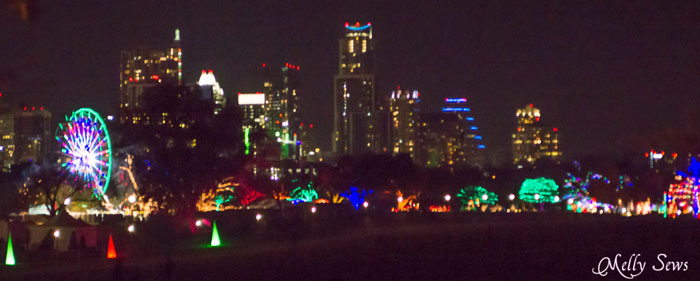 Austin Trail of Lights Skyline Austin Notebook - What to wear and see at the Zilker Trail of Lights - Melly Sews