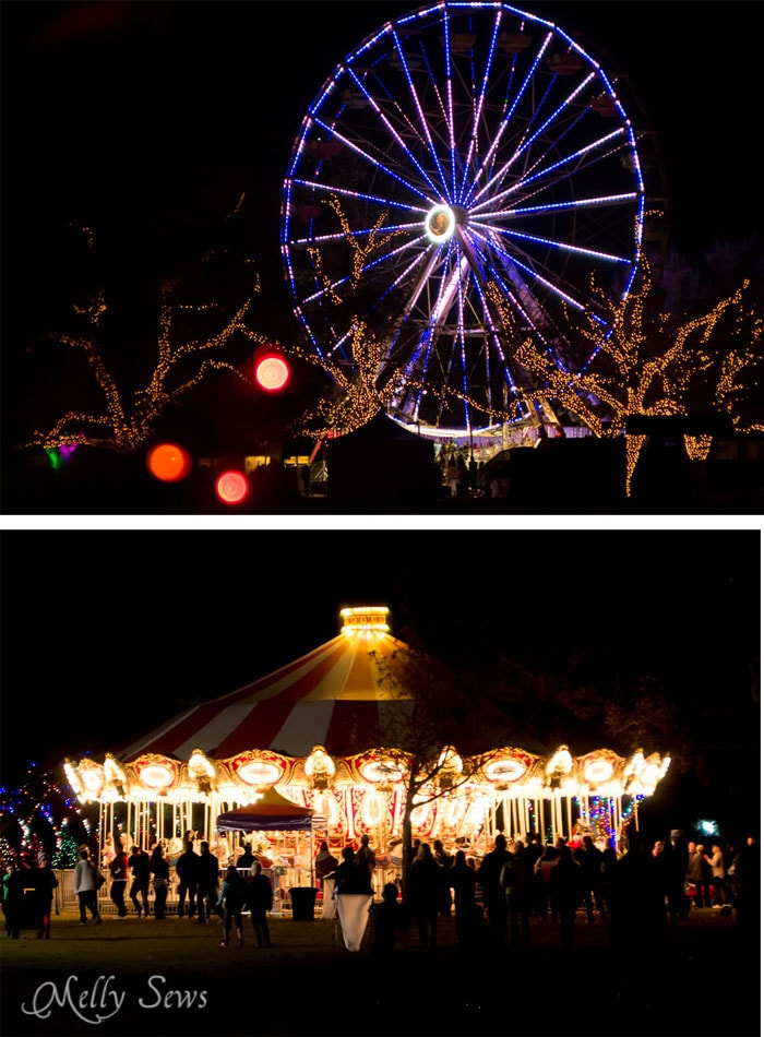 Ferris Wheel and Carousel - Austin Notebook - What to wear and see at the Zilker Trail of Lights - Melly Sews
