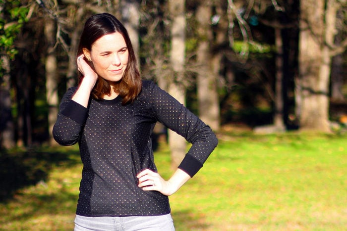 Denver Tunic turned sweatshirt. Pattern by Blank Slate Patterns, sewn by Dixie DIY
