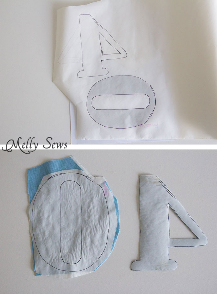 Step 1 - How to Appliqué - Sewing Glossary - Common Sewing Terms defined - Melly Sews