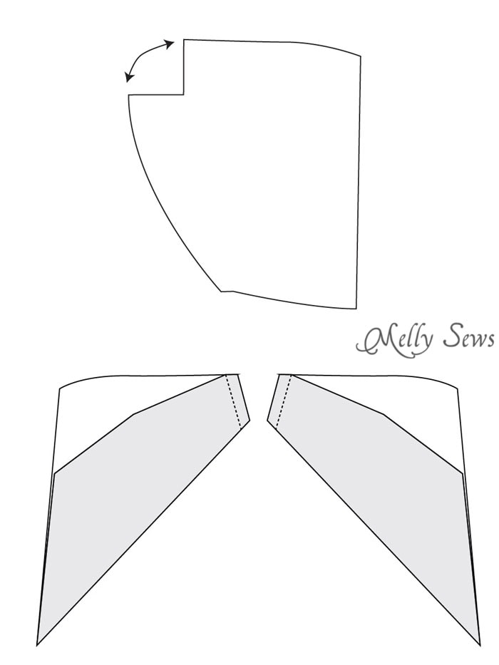 Step 1 - Zippy Jacket Pattern by Blank Slate Patterns - How to add a hood to a shirt or sweatshirt - with FREE pattern - Melly Sews