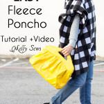 How to Sew a Fleece Poncho – DIY Poncho Tutorial