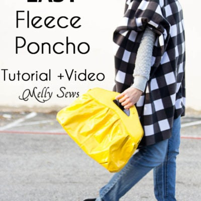 How to Sew a Fleece Poncho – DIY Poncho Tutorial