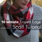 Frayed Edge Scarf Tutorial