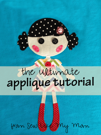 How to applique - advanced tutorial from Sew Like My Mom