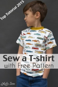 Top 2015 Tutorial - Sew t-shirt - Use this FREE pattern to sew a toddler size t-shirt - Melly Sews