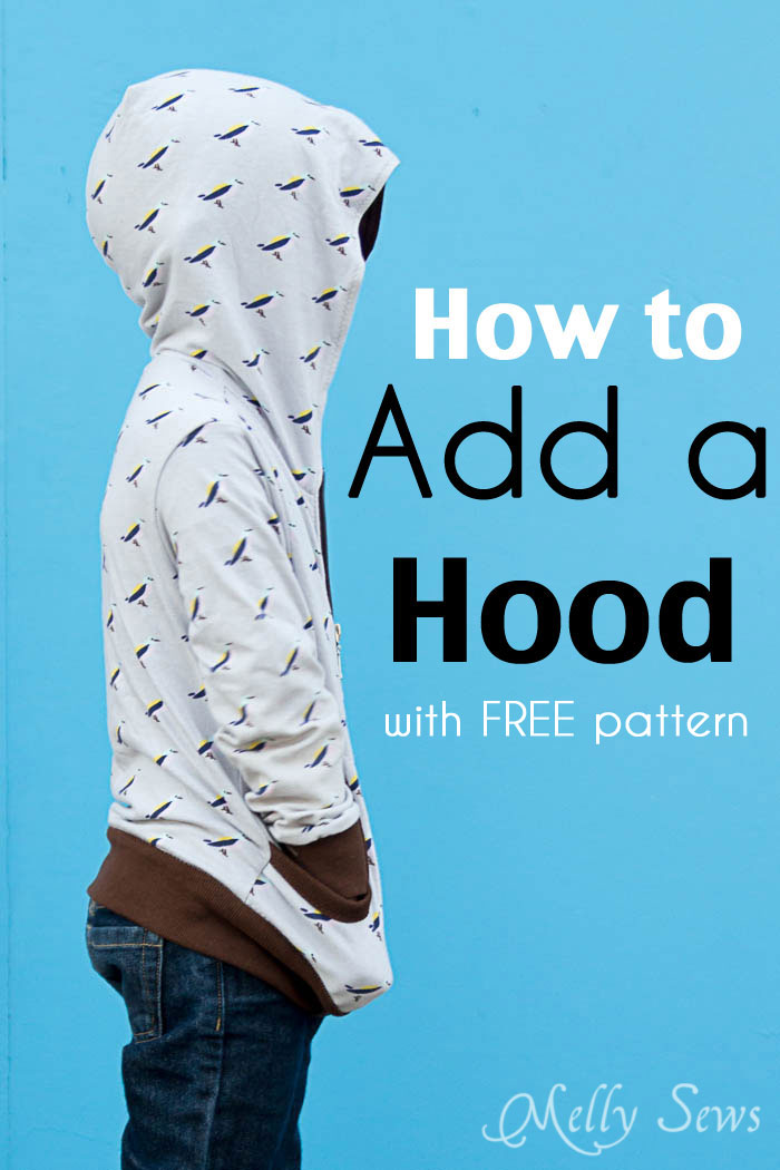 How to add a hood to a jacket melly sews for How to put a picture on a shirt diy