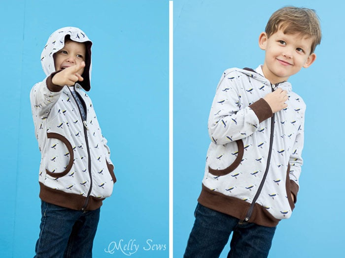 Zippy Jacket by Blank Slate Patterns in Idle Wild Fabric - Melly Sews