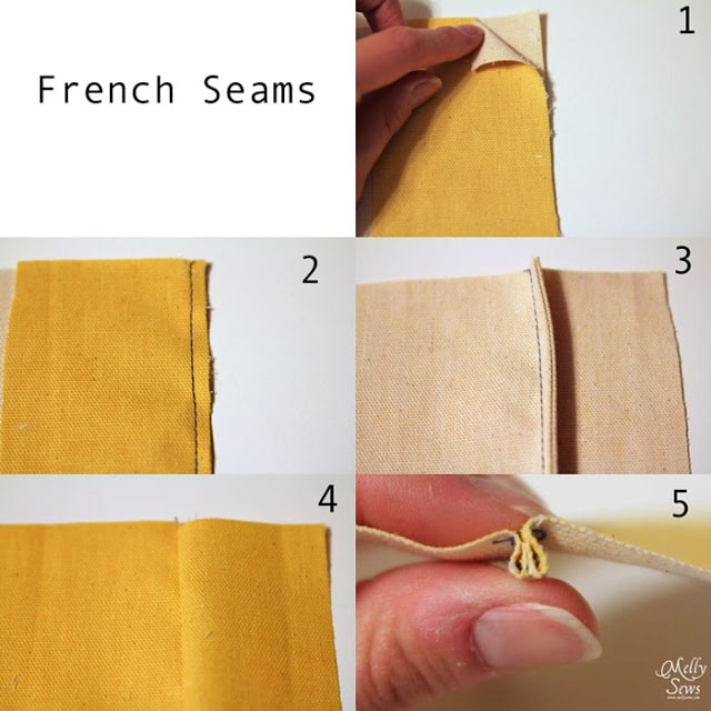 How to sew a French seam - finish a seam with a French seam - Melly Sews